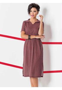 7e6f131d9c Vestido Geometrico Moda Pop feminino