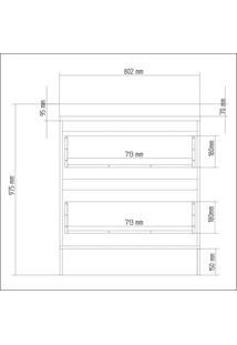 Balcão De Cozinha 2 Gavetas E Rodapé 80Cm Lis Decibal Cedro/Wood