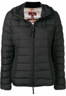 Parajumpers Hooded Puffer Jacket - Preto