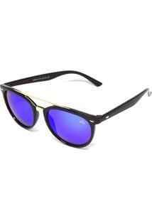 Óculos De Sol Redondo Cayo Blanco Branco