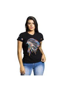 T-Shirt Miss Country Brasil Preta Bordada