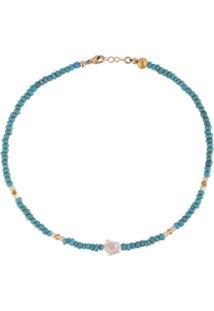 Nialaya Jewelry Short Seedbead Necklace - Azul