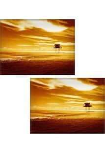Jogo Americano Colours Creative Photo Decor - Paisagem De Casebre - 2 Peças