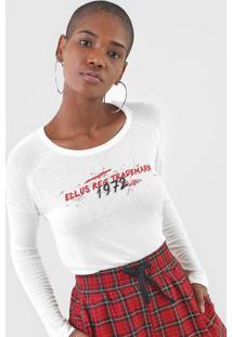 Blusa Ellus Contrasting Off-White