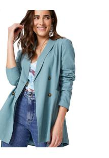 Blazer Alongado Cotton Leve
