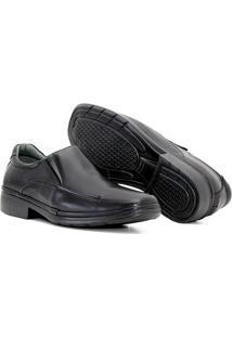Sapato Em Couro Quebec Slim Comfort Com Elástico Masculino - Masculino