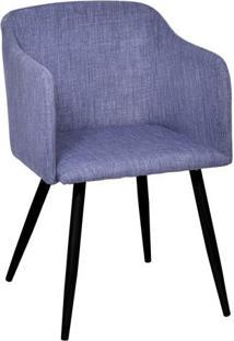 Poltrona Charlote- Azul & Preta- 78,5X72X51,5Cm-Or Design