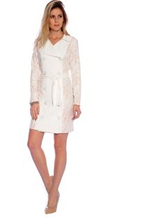 Trench Coat Estilo K Matilde Off White