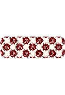 Passadeira Love Decor Pinheiro De Natal Vermelho - Kanui