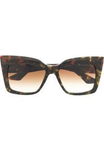 Dita Eyewear Óculos De Sol Quadrado Oversized - Marrom