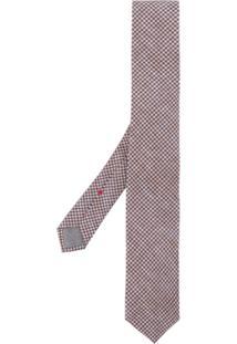 Brunello Cucinelli Gravata Com Padronagem - Azul