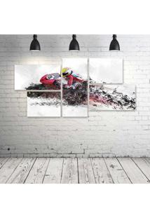 Quadro Decorativo - Motorcycle - Composto De 5 Quadros