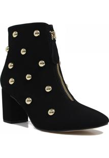 Bota Zariff Shoes Ankle Boot Metais Preto