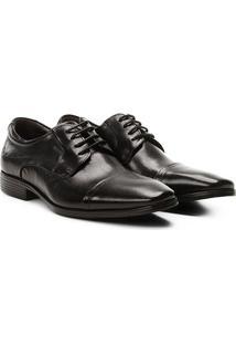 Sapato Social Couro Democrata Vince Light Masculino - Masculino-Preto