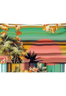 Blusa Cropped Malha Estampada Maui - Lez A Lez