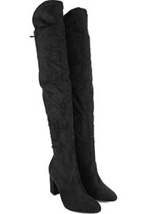 Bota Over The Knee Via Marte Salto Alto Feminina - Feminino-Preto