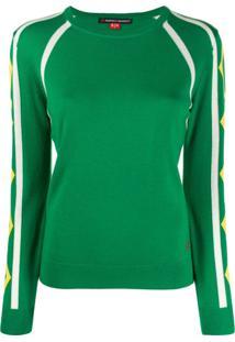 Perfect Moment Blusa De Tricô Listrada - Verde