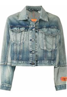 Heron Preston Camisa Jeans Croppped X Levi'S - Azul