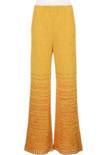 M Missoni Calça Pantalona Com Paetês - Dourado