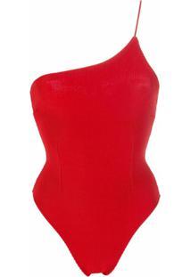 Haight Body De Tricô Um Ombro Só - Vermelho