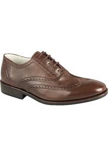 Sapato Social Masculino Oxford Sandro Moscoloni Classic Marrom