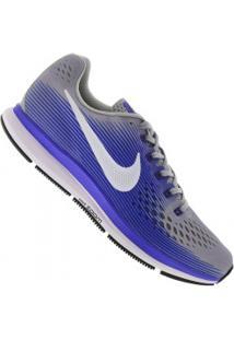 Tênis Nike Air Zoom Pegasus 34 - Masculino - Cinza Cla/Azul