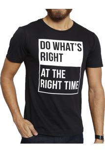 Camiseta Polo Factory Right Time Preta