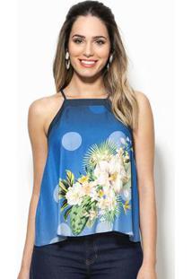 Regata Flor Solar Azul