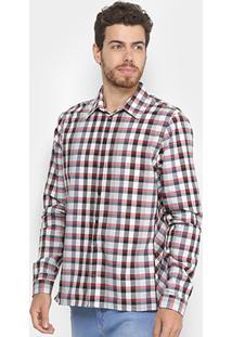 Camisa Xadrez Forum Special Masculina - Masculino-Branco+Preto