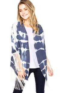Kimono Forum Franjas Azul/Branco