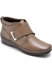 Bota Dr Shoes Casual Feminino - Feminino-Caramelo
