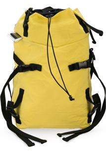 The Viridi-Anne Large Drawstring Backpack - Amarelo