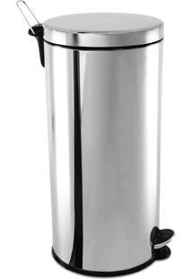 Lixeira Aço Inox Com Pedal E Balde 30L 3040205 Brinox