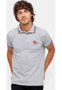 Camisa Polo Rg 518 Malha Frisos Bordada Masculina - Masculino