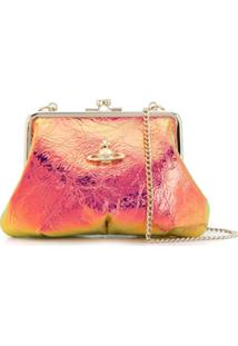 Vivienne Westwood Iridescent Cross Body Bag - Dourado
