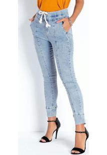 Calça Jeans Clara Jogger Com Bolsos Sawary