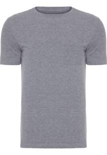 Camiseta Masculina Crepe - Cinza