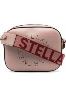 Stella Mccartney Punch-Hole Logo Shoulder Bag - Rosa