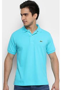 ... Camisa Polo Lacoste Piquet Original Fit Masculina - Masculino-Azul  Claro+Azul 5ba29fab47ecc