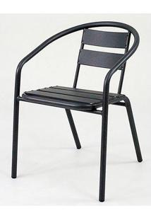 Cadeira Fun Em Aluminio Preta - 58399 - Sun House