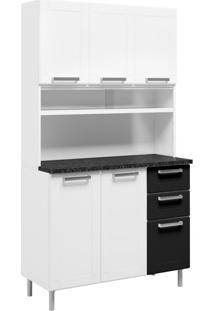 Cozinha Compacta Múltipla 6 Pt 2 Gv Branca E Preta