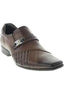 Sapato Social Rafarillo Masculino - Masculino-Marrom Escuro