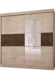 Guarda-Roupa Casal Com Espelho 2 Portas E 4 Gavetas 2040-Araplac - Avela Madeirado