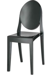 Cadeira Louis Ghost Sem Braco Pc Preto Solido - 5970 - Sun House