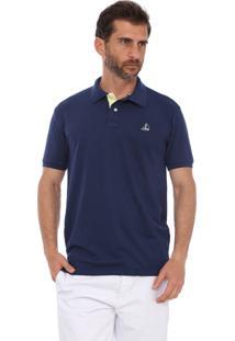 Camisa Polo Clube Náutico Slim Azul Marinho