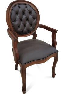Cadeira Imperial Com Braço Em Capitone Com Pinturas E Tecidos Personalizáveis