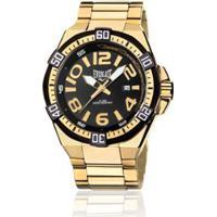 c1179cefb28 Relógio Masculino Analógico Everlast Cx E Pulseira Aço - Masculino-Dourado+ Preto