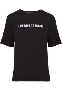 Blusa Bobô Back To Black Malha Preto Feminina (Preto, Pp)