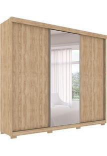 Guarda-Roupa Casal Com Espelho Otawa 3 Pt 6 Gv Cedro