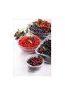 Painel Adesivo De Parede - Frutas Vermelhas - Cozinha - 1487Pnp